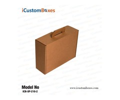 Get Eco Friendly cardboard boxes with handle At iCustomBoxes.
