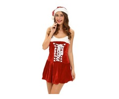 Christmas Sexy Holiday Buckles Costume For Women