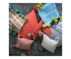Pom Pom Blanket: Great for a Comfy Boho-Chic Vibe Anywhere!
