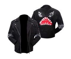 Daft Punk Instant Crush Shark Black Leather Jacket Men's Halloween Pumpkin Costumes