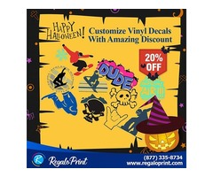 Customize Vinyl Decals With 20% Discount | RegaloPrint