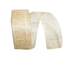 Mesh Metallic Natural Ribbon For Home Decor |The Ribbon Roll
