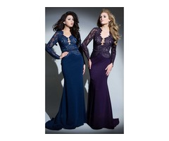 Long Sleeve Mermaid Long Evening Formal Prom Dresses for Women