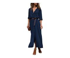 Slit maxi shirt stylish maxi dress trendy long maxi dress