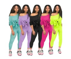 New Style Hot Selling Two Piece Set Jumpsuits Women Tracksuit Set