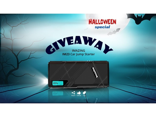 HalloweenSpecial Giveaway!! Enter to Win Imazing IM23 Jump Starter | free-classifieds-usa.com