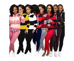 Women Winter Long Sleeve Sweatsuit Of Two Piece Set Clothing Sports Tracksuit