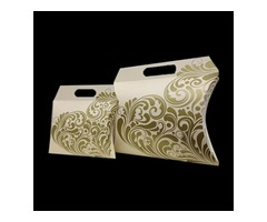 Get Custom Printed Handle Pillow Boxes