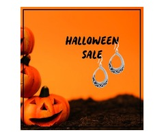 Sterling Silver Oxidized Dangle Earrings - HALLOWEEN SALE 2019
