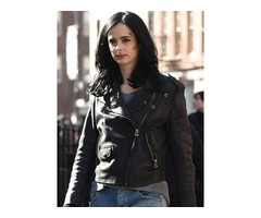 KRYSTEN RITTER JESSICA JONES BIKER LEATHER JACKET