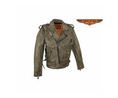 SKU: MJ201-01 MOTORCYCLE JACKET LEATHER
