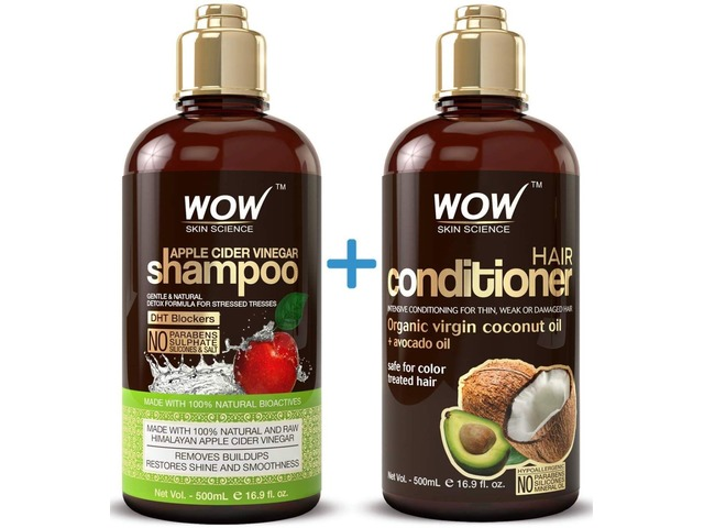 WOW Apple Cider Vinegar Shampoo & Hair Conditioner Set - (2 x 16.9 Fl Oz / 500mL)  | free-classifieds-usa.com