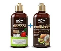 WOW Apple Cider Vinegar Shampoo & Hair Conditioner Set - (2 x 16.9 Fl Oz / 500mL)