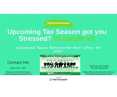 Tax Season Got you Stressed? Don't Worry. Let me handle it!