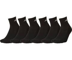 Adidas Athletic Quarter Socks – 6 Pack