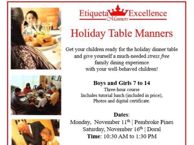 Kids Table Manners & Holiday Etiquette | free-classifieds-usa.com