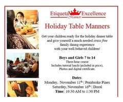 Kids Table Manners & Holiday Etiquette