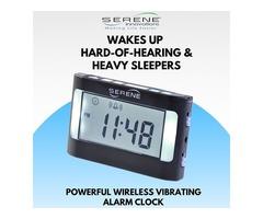 Buy Wireless Vibrating Alarm Clock from Serene Innovations