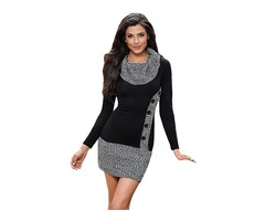 2019 New Arrival Long Sleeves Button Front Bodycon Dress Women Sexy Sweater Dress