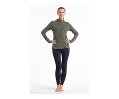 Hessz hot sale fashion design stand collar gym wear wholesale women activewear yoga jackets  | free-classifieds-usa.com
