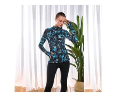 Women running active wear custom ladies fitness thumb hole yoga jacket | free-classifieds-usa.com