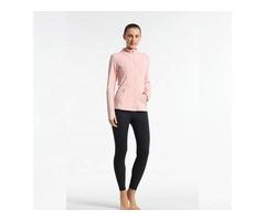 Custom design women training jacket zipper ladies breathable long sleeve yoga jackets with pockets