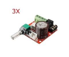 3Pcs 12V Mini Hi-Fi PAM8610 2X10W Audio Stereo Amplifier Board Dual Channel