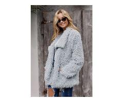 Carefully selected materials faux fur coat fashion fake fur jacket
