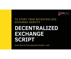 Decentralized Exchange Script | Decentralized Exchange Software - BlockchainAppsDeveloper