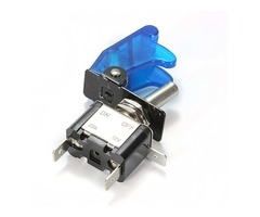 5x Blue Car Cover LED SPST Toggle Rocker Switch Control 12V 20A
