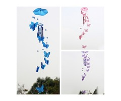 Butterfly Acrylic Wind Chime Campanula Sound Musical Instrument
