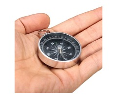 44mm Metal Compass Aluminum Shell With Key Ring Compass
