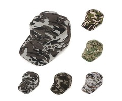 Unisex Men Women Army Camouflage Military Soldier Hat Sport Cap Jungle