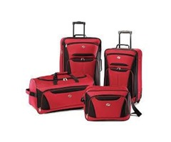 American Tourister Luggage 3-Piece Set, Red/Black