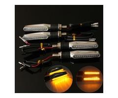 4pcs Motorcycle LED Turn Signal Indicator Amber Light
