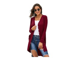High quality most popular women button down cardigan sweater with pockets