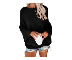 Custom OEM Winter Ladies Black Knit Sweater