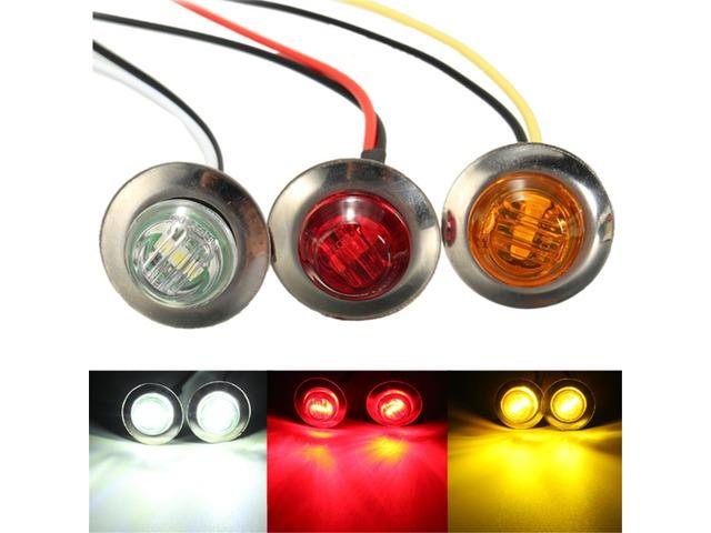 LED Side Marker Light Bulb Lamp Turn Signal Indicator Light Truck Trailer Amber Red White | free-classifieds-usa.com