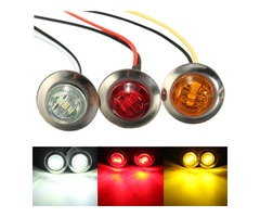 LED Side Marker Light Bulb Lamp Turn Signal Indicator Light Truck Trailer Amber Red White