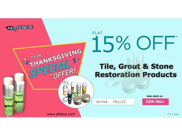 Fall Season Deals on Tile, Grout and Stone Restoration Products   pFOkUS    free-classifieds-usa.com