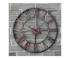 Order 3D Circular Retro Roman Wall Clock At Cabaltica - Best Online Shopping In USA