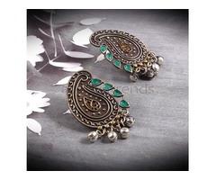 Traditional Kolki Design Earrings with Ghungroo by Aadhya Trends