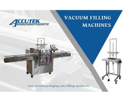 Vacuum Filling Machines to speed up production rate