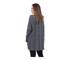 HESSZ High Quality Ladies Gray Oversize Cozy up Knit Sweater | free-classifieds-usa.com