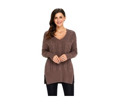 Ladies Winter Loose Fashion Oversize Cozy up Knit Sweater