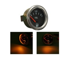 12V DC Automotive Electrical Mechanical Fuel Level Gauge Black Oil FG