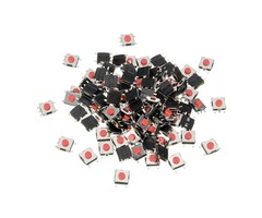 100Pcs 5 Pin Tactile Push Button Switch Tact Switch 6 X 6 X 3.1mm SMD