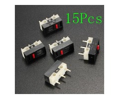 15Pcs No Handle Ultra Mini Micro Switch SPDT Sub Miniature Micro Switch