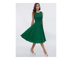 Casual Straps Lace A-Line Tea-Length Cocktail Dress
