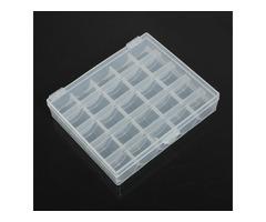 25 Compartments Plastic Bobbin Storage Organizer Box